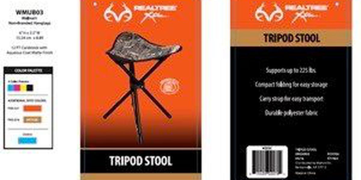 Walmart recalls camouflage stools due to fall hazard