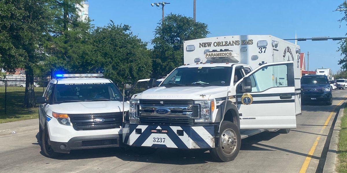 Ambulance stolen, crashed into NOPD unit after short joyride
