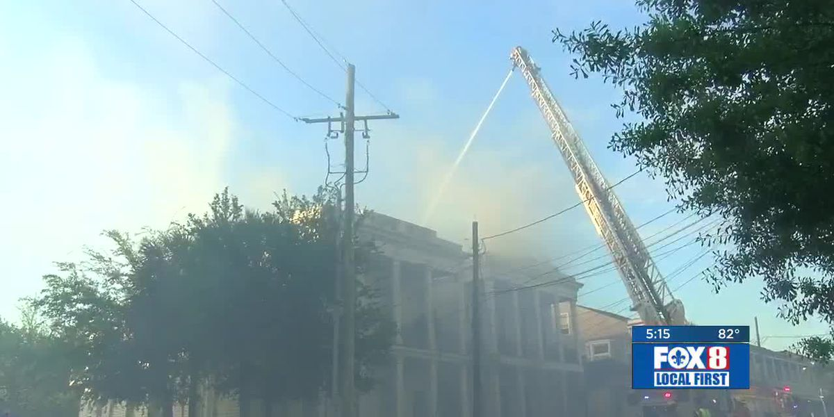Neighbors react to five-alarm Central City fire