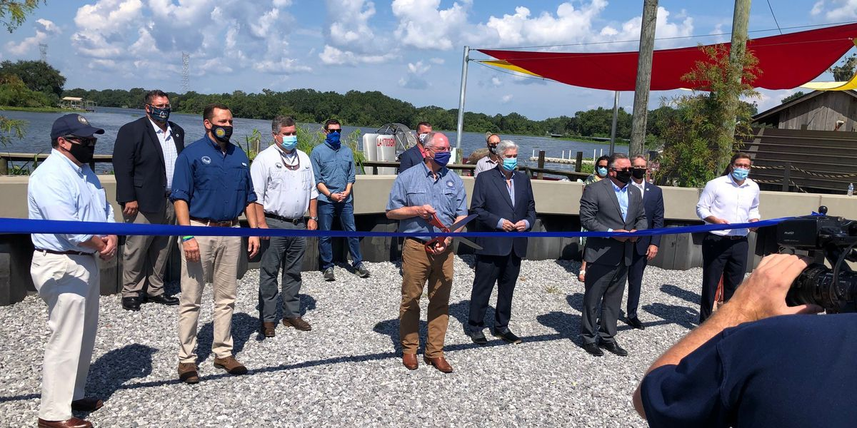 State and Local Officials Urge Precautions as they Unveil A New Lafitte Levee
