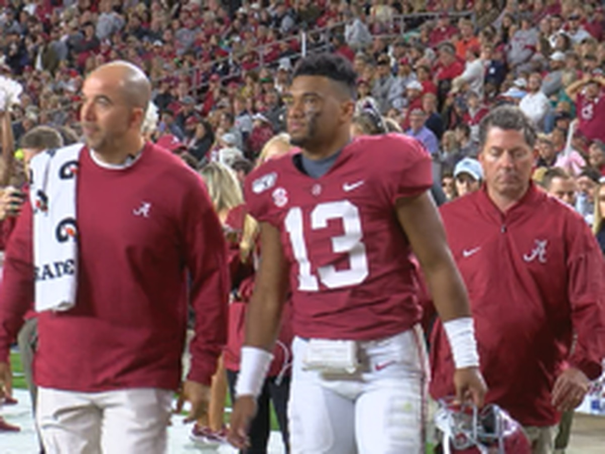 Alabama QB Tua Tagovailoa suffers ankle injury in Tennessee game