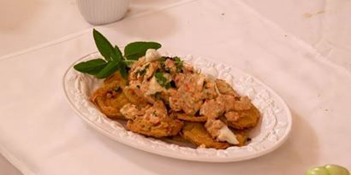 Chef John Folse: Crab remoulade with fried green tomatoes