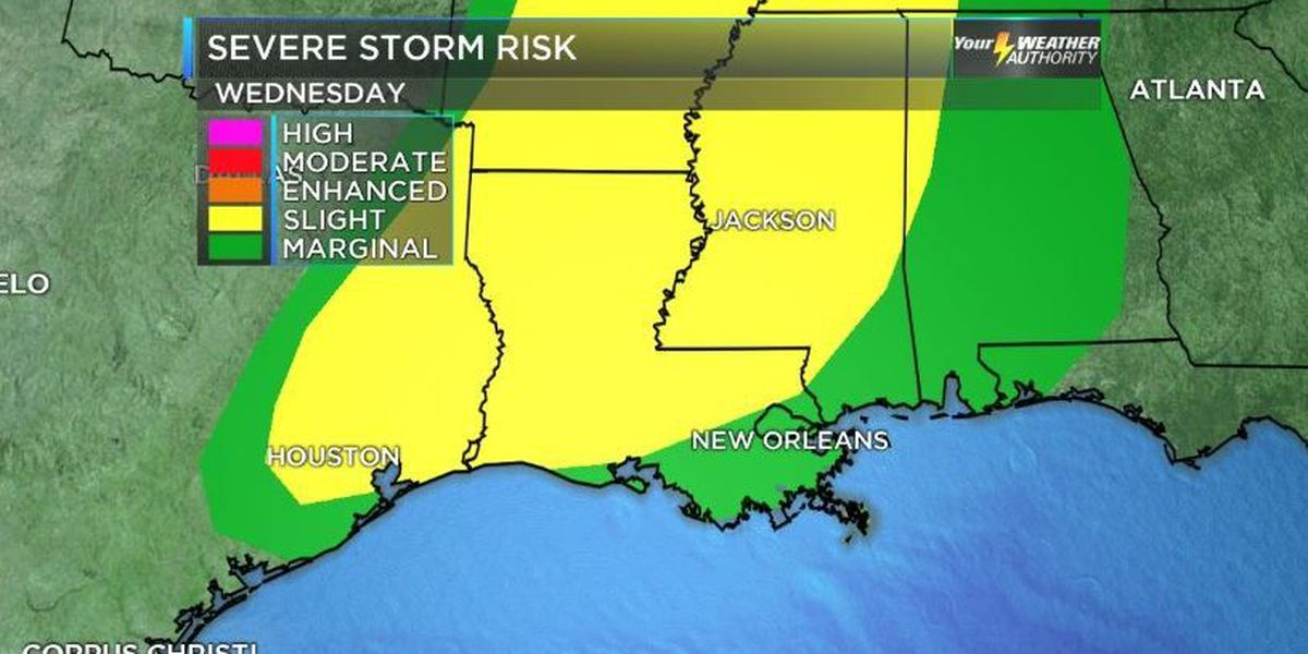 Severe thunderstorm watch issued for metro New Orleans area