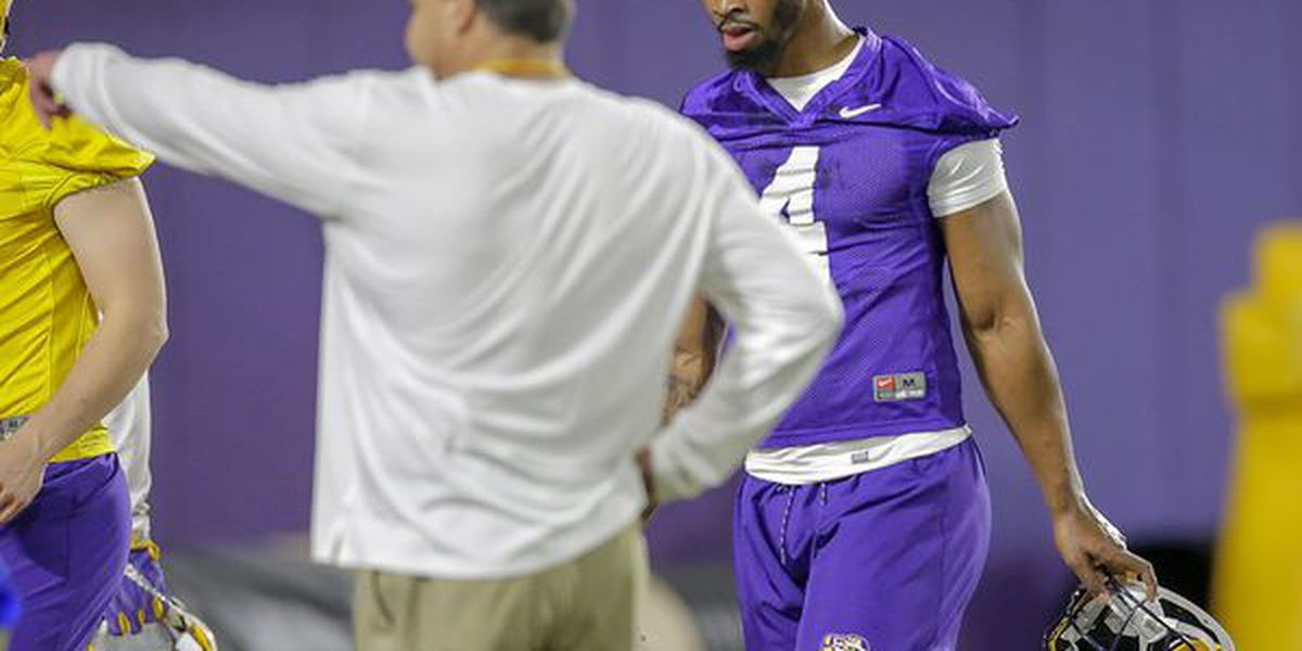 LSU football begins spring practice on a high note