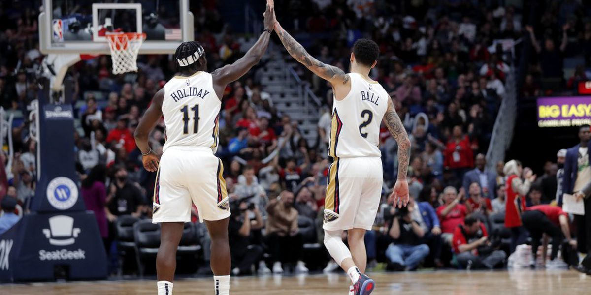 Ball's career-high 7 3s helps Pelicans past Rockets, 127-112