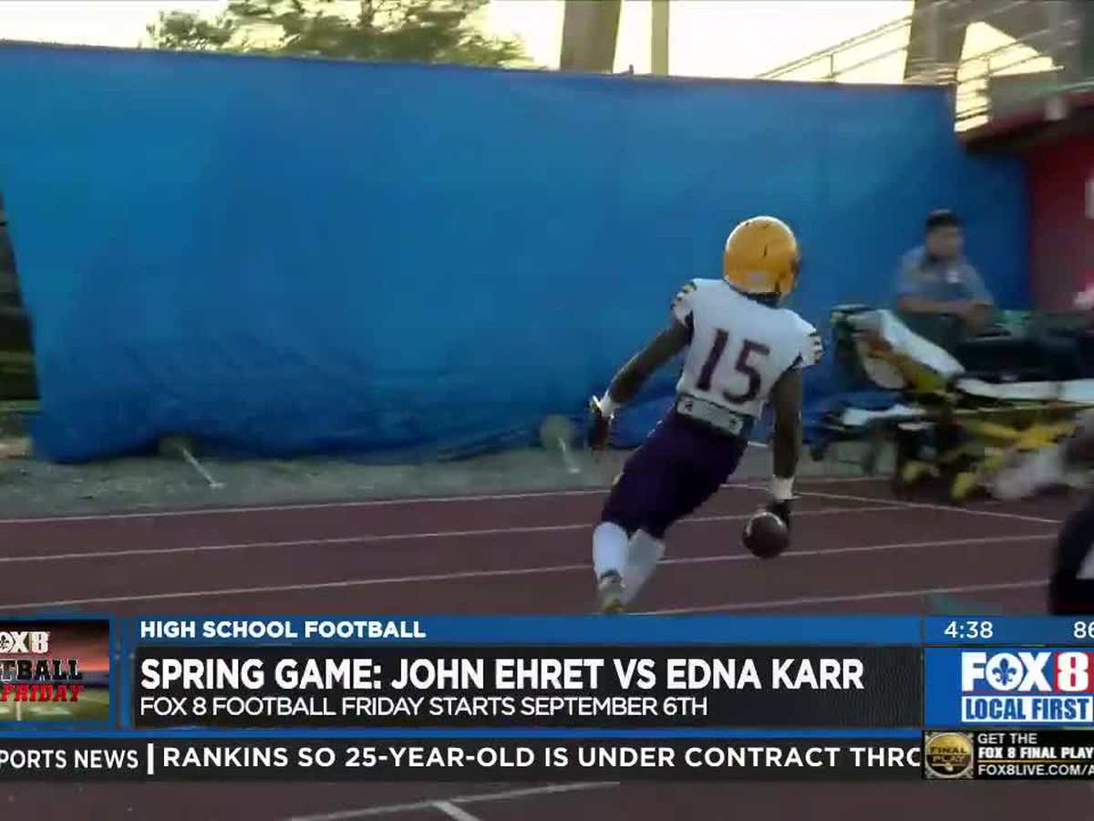 Karr WR Aaron Anderson scores three TD's in spring game against Ehret