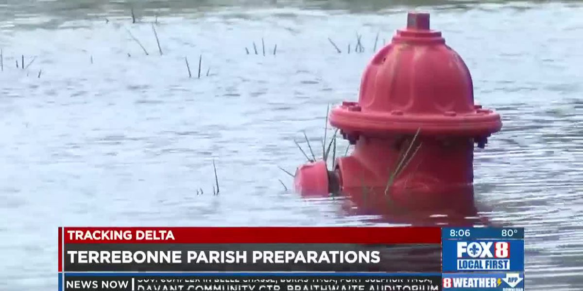 Terrebonne Parish seeing storm surge ahead of Hurricane Delta