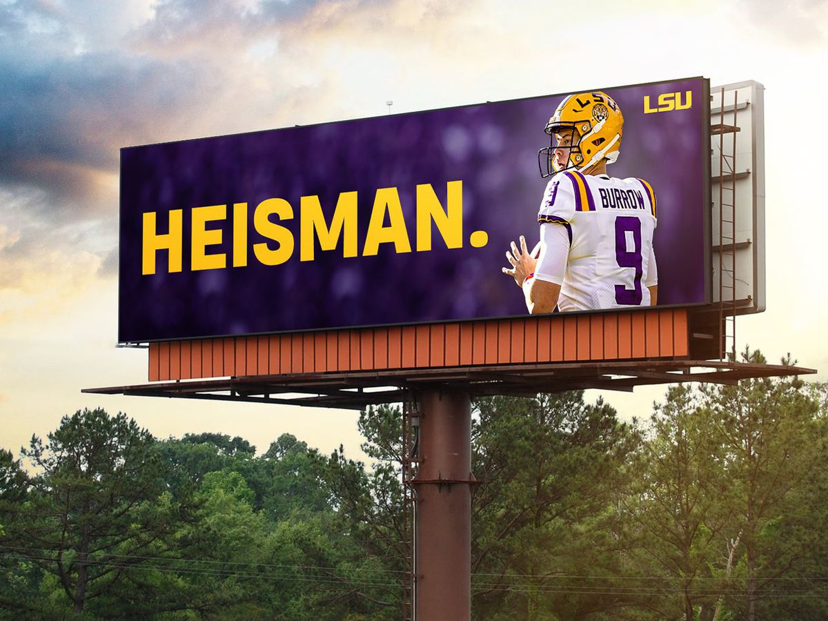 Joe Burrow for Heisman billboards to go up around Baton Rouge