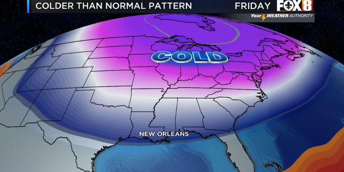 Colder pattern into next week