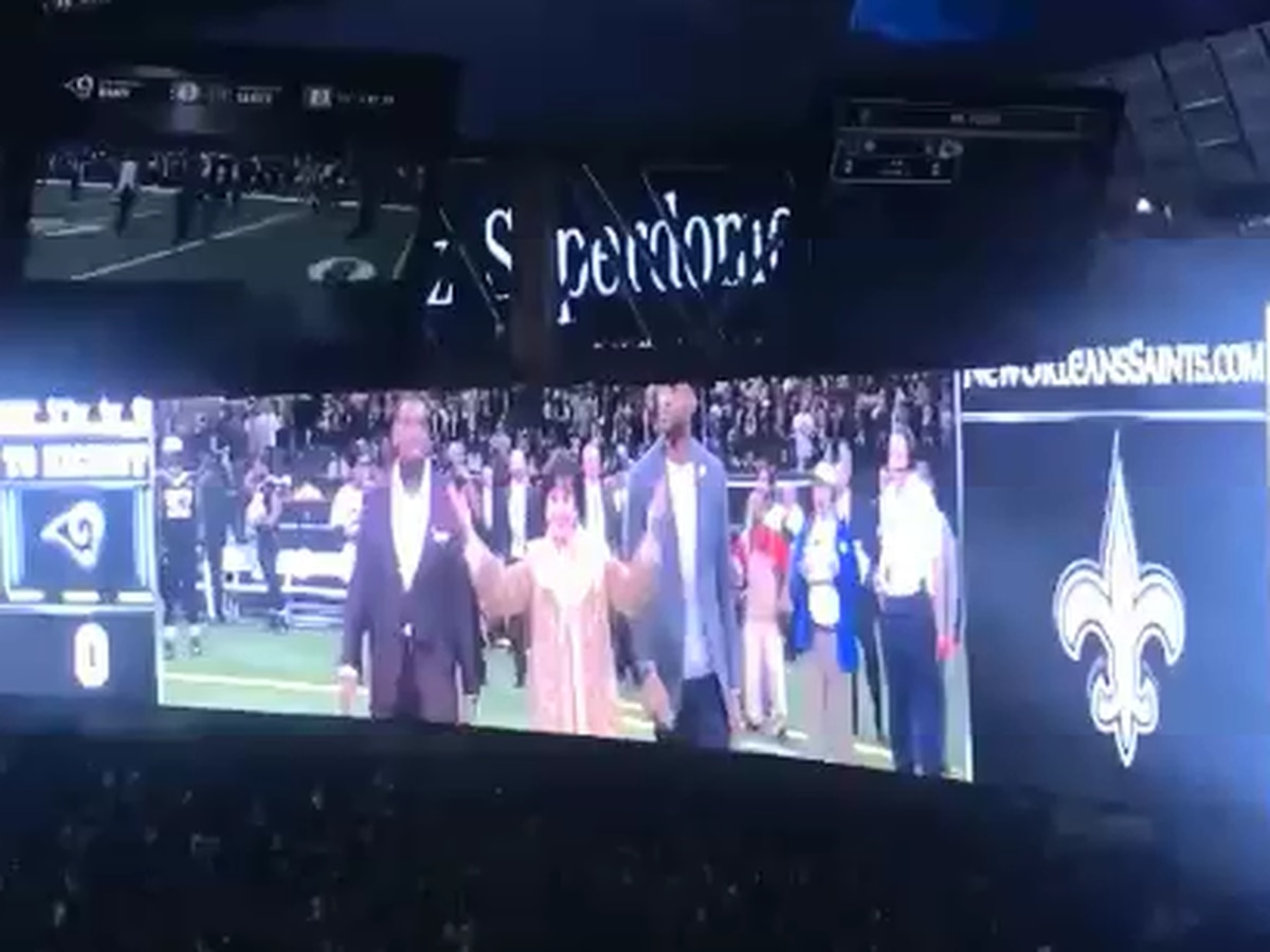 Section 642: Saints owner Gayle Benson leads Superdome in Who Dat chant