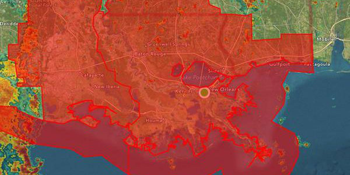 Tornado watch issued for Southeast Louisiana