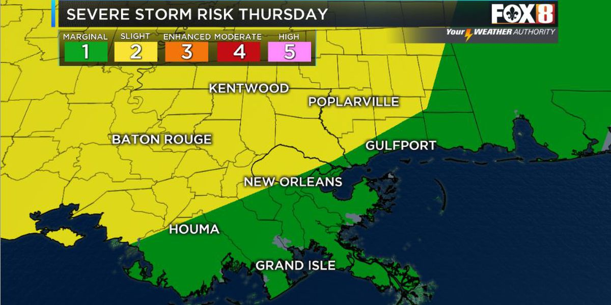 Strong to severe storm chance Thursday