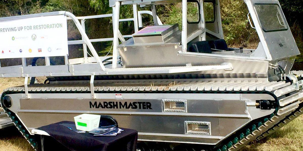 """Marsh Master"" vehicle donated to state wildlife department"