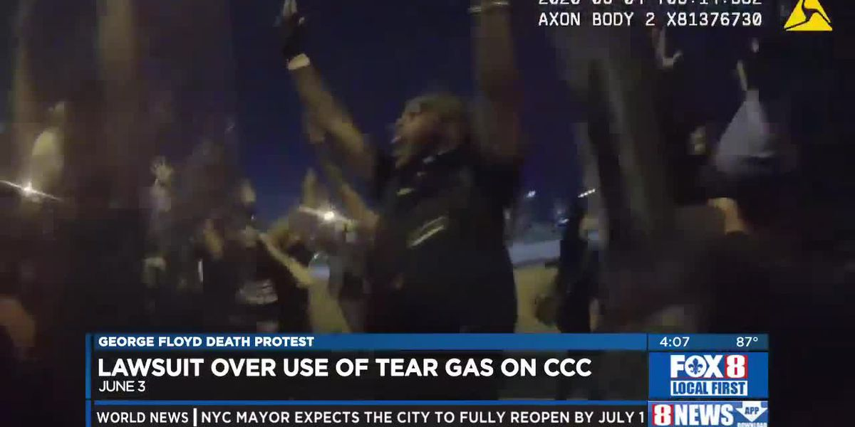 Lawsuit over police use of tear gas on the CCC