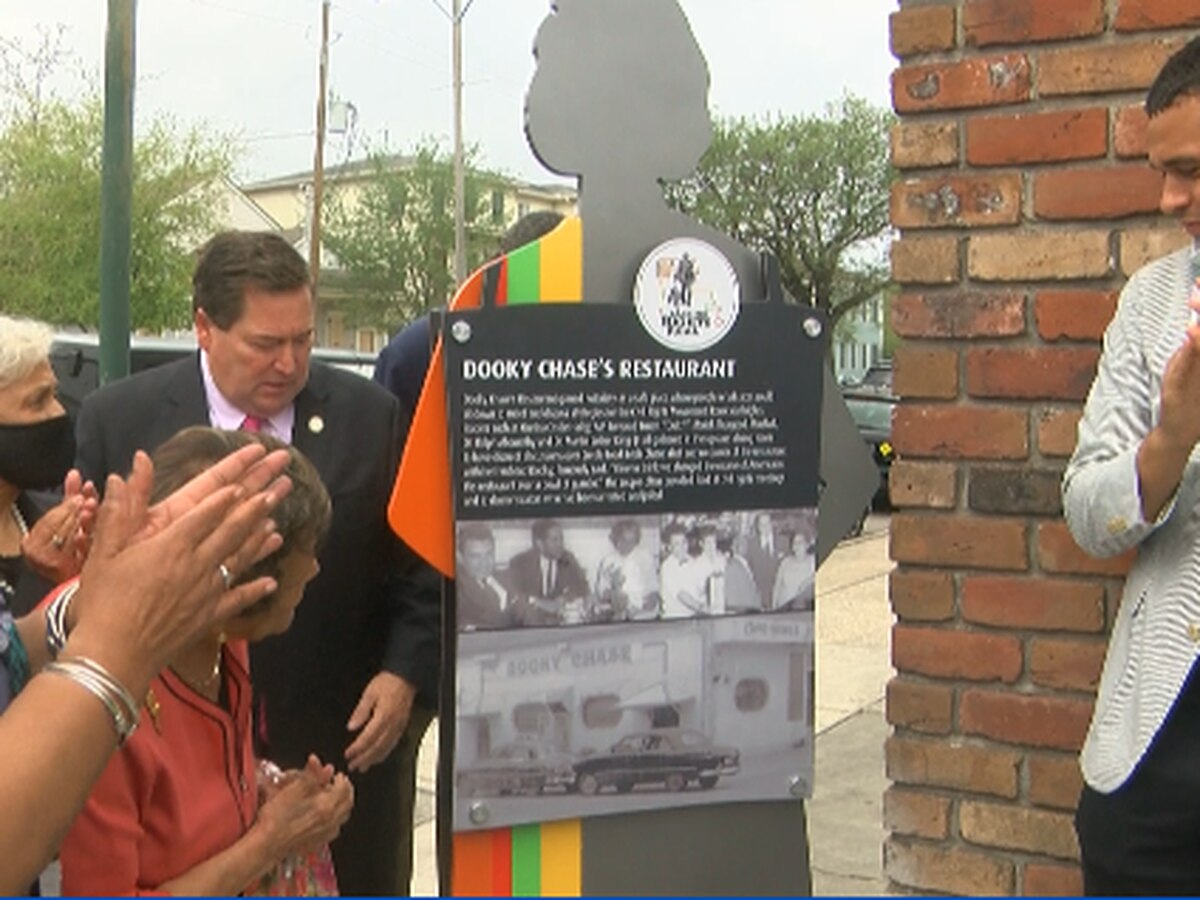 Dooky Chase Restaurant is the site of Louisiana's first Civil Rights Trail marker