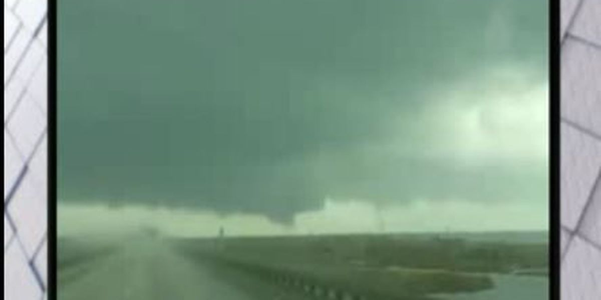Suspected tornado spotted near Armstrong International Airport