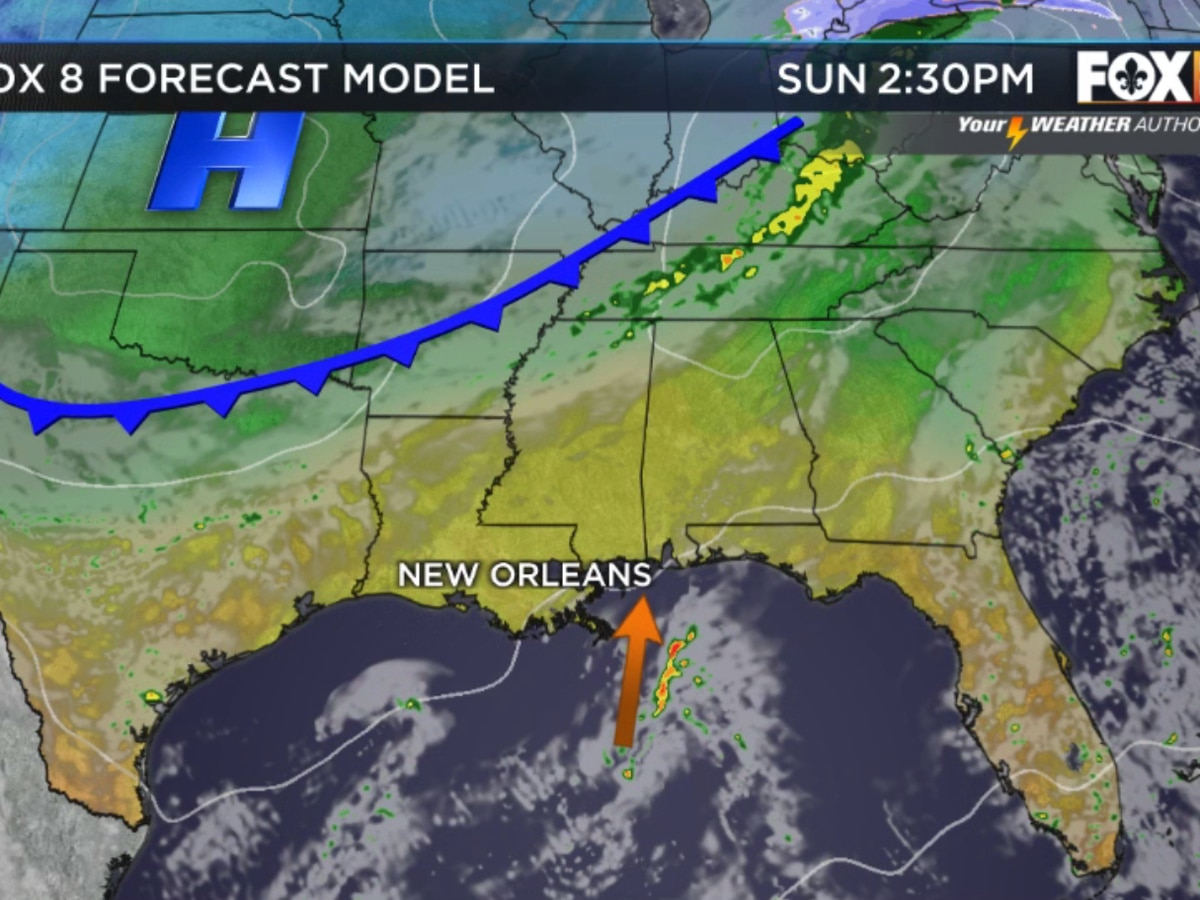 Nicondra: Another cold front approaches, but little moisture for rain
