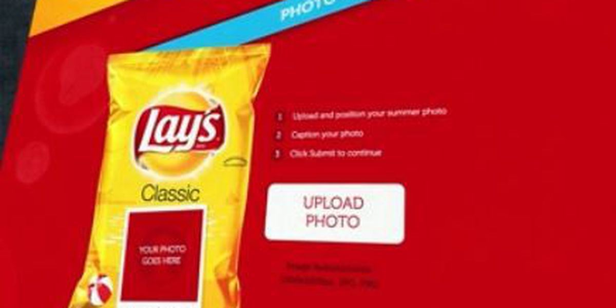Get your picture on a bag of Lay's potato chips