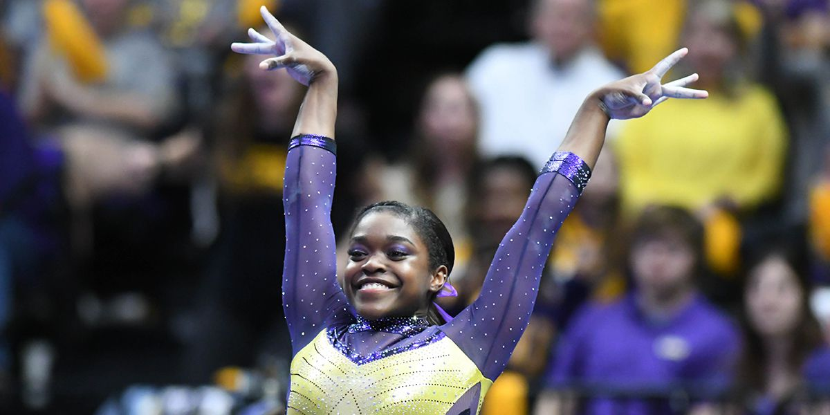 LSU gymnast Kiya Johnson crowned SEC Freshman of the Week