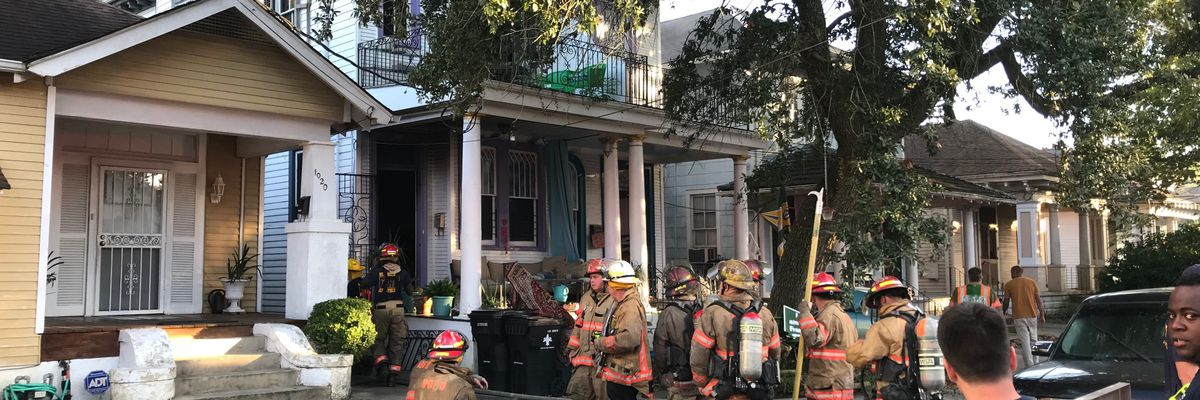 Bayou St. John house catches fire Sunday evening