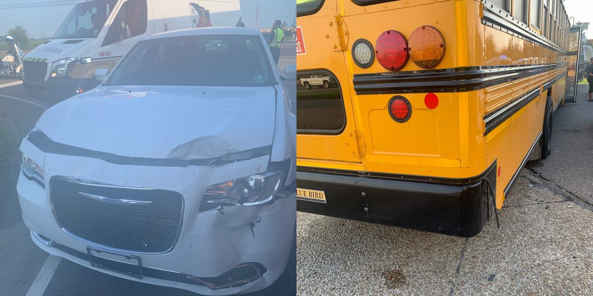 School bus driver ticketed for running red light, crashing with children on board