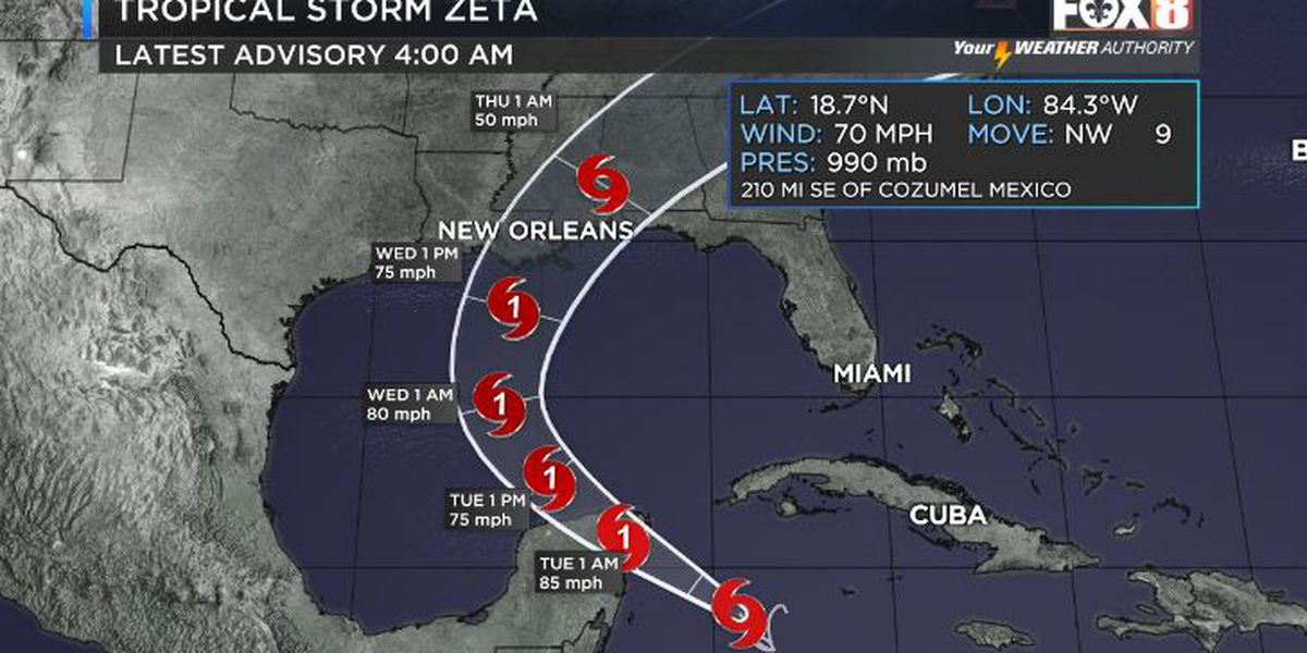 Zeta rapidly strengthening in Caribbean; Northern Gulf Coast watching closely