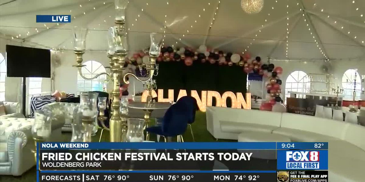 Josh tours to VIP lounge at Fried Chicken Festival