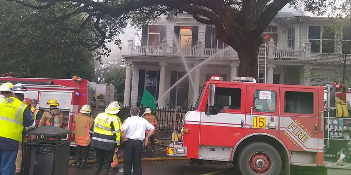 Portion of St. Charles Streetcar line closed due to fire at historic home