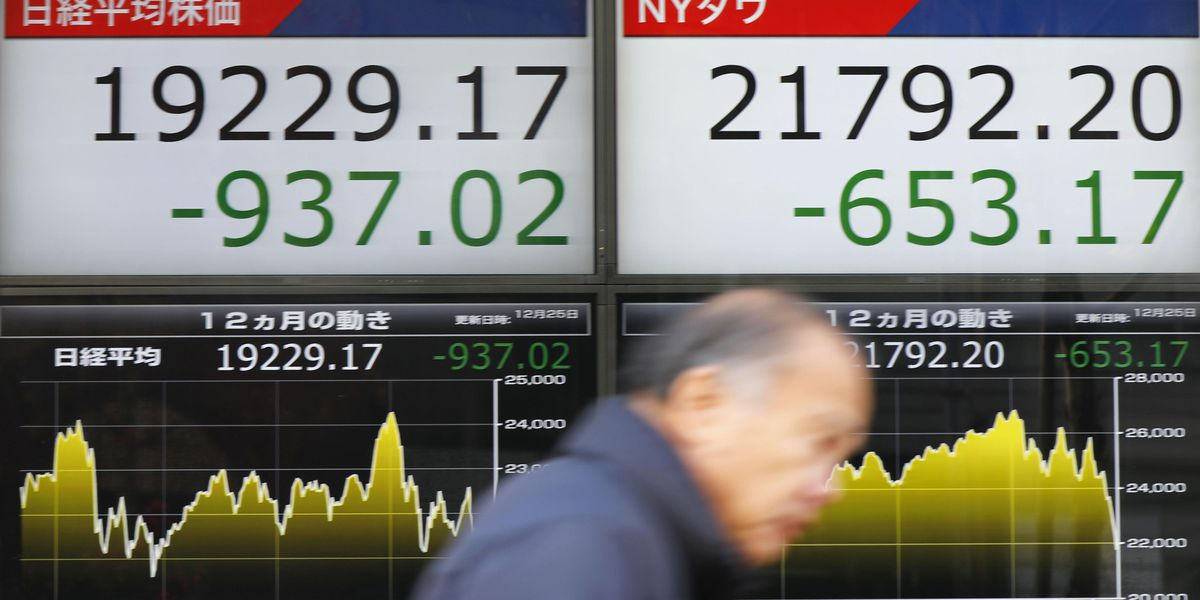 Japan stocks plunge, other Asia markets fall after US losses