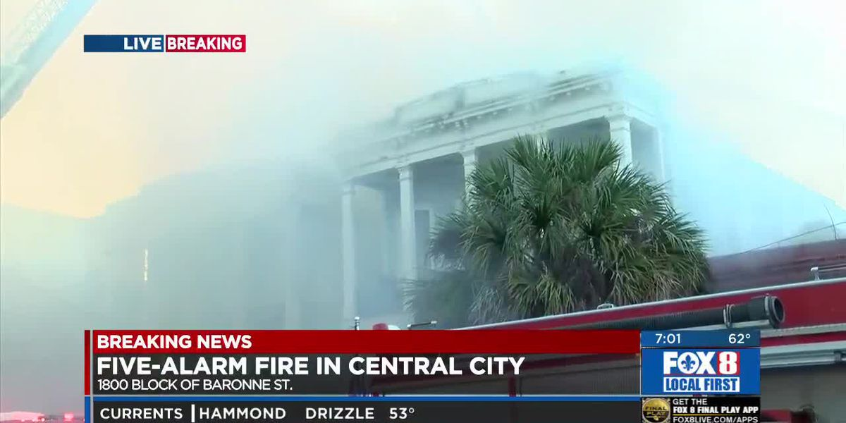 UPDATE: Five-Alarm Fire in Central City