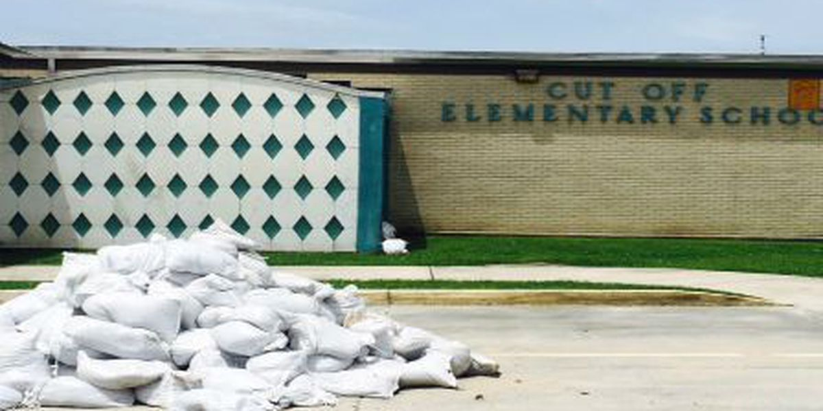 Cut Off Elementary School dries out after floodwaters invaded the campus