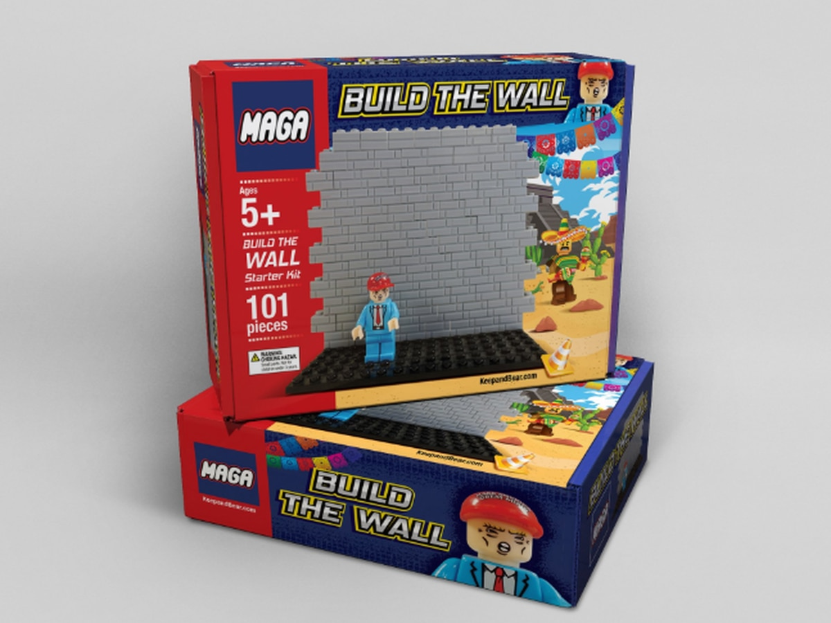 Build the wall: Trump-inspired toy sold as 'great Christmas gift' for children