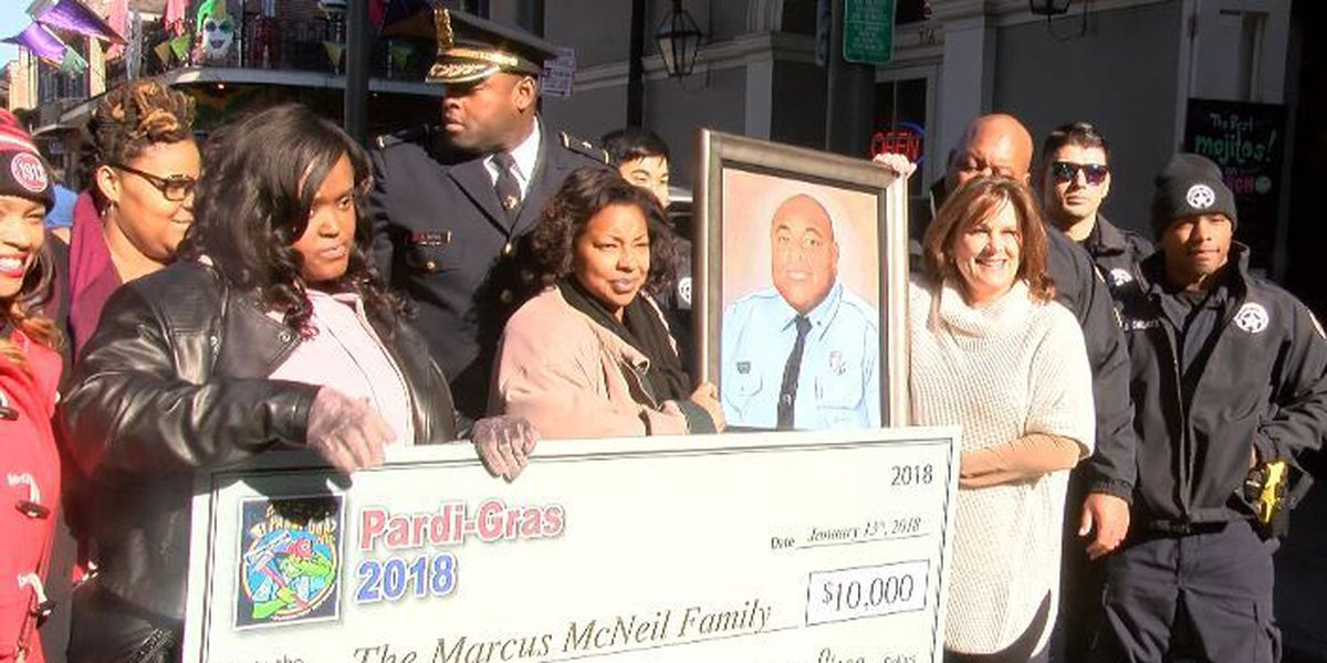 Family of fallen officer honored with portrait and donation