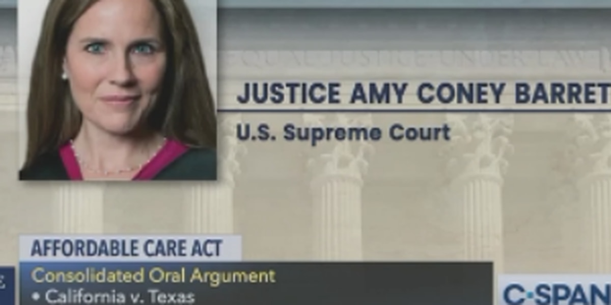 Amy Coney Barrett takes part in Supreme Court hearing on the ACA; some justices signal it may be upheld