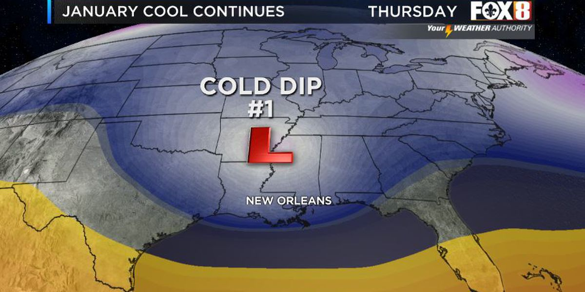 Multiple cold fronts expected this week