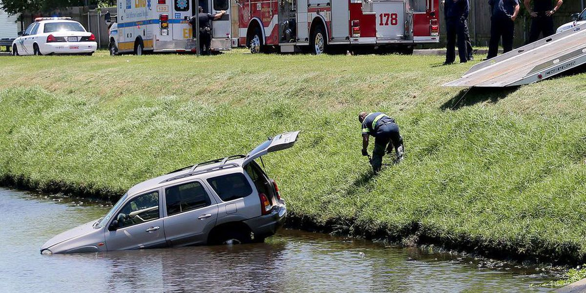 Turtle triggers crash that sends mother, son into Metairie canal