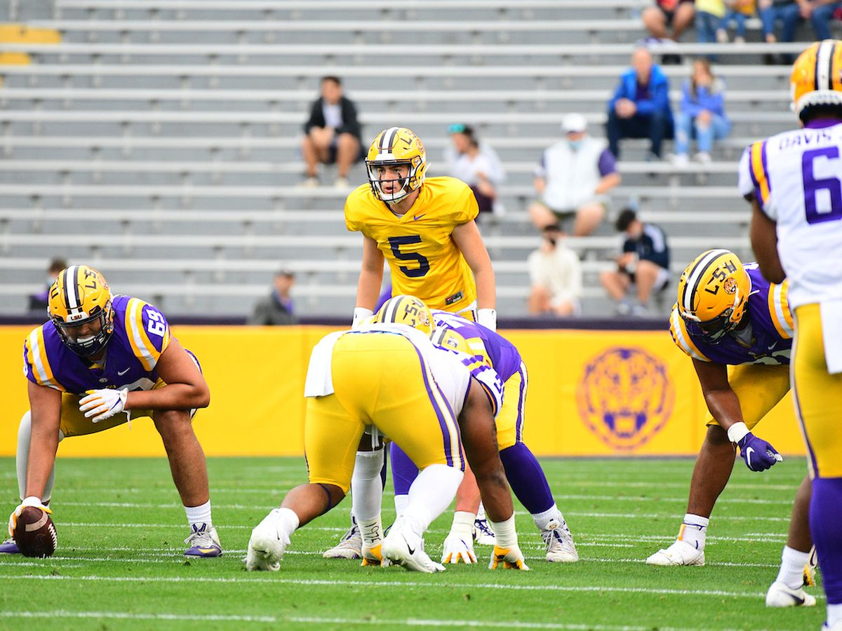 White team holds off purple team to win LSU Spring Game 23-14