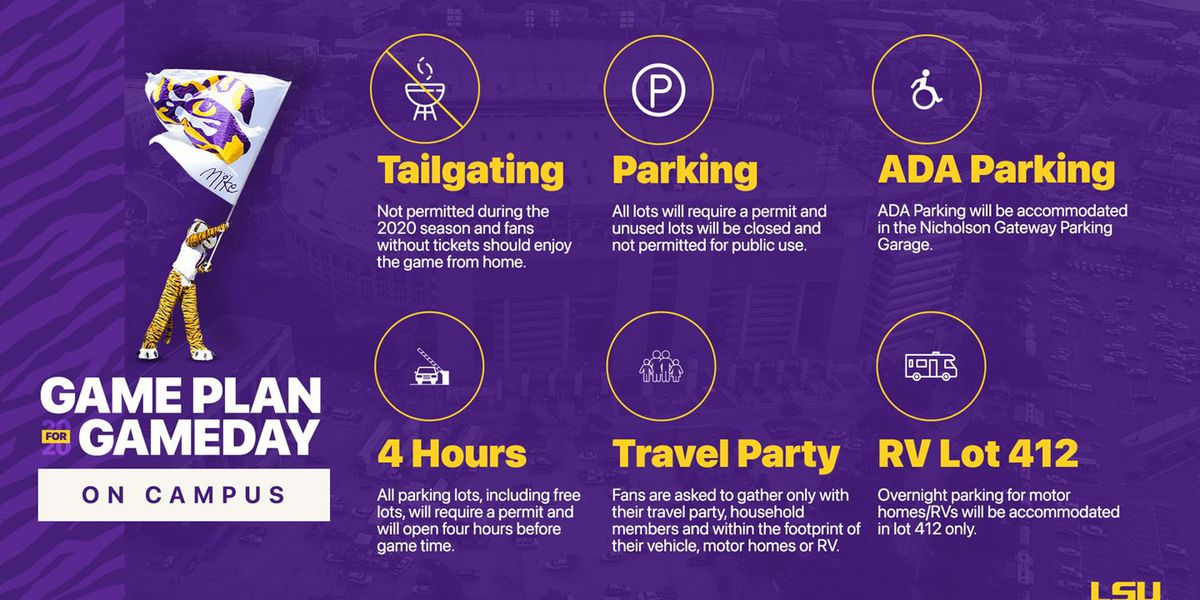 LSU Announces GameDay Parking Changes, Updated Map