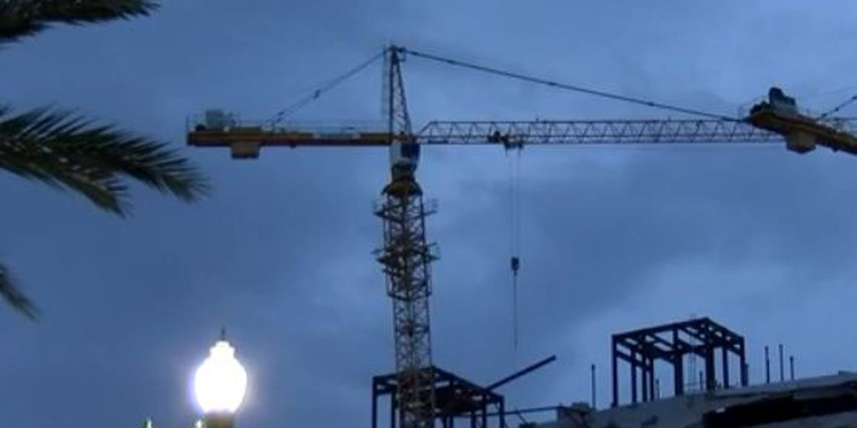 Search continues through the night for missing worker at Hard Rock collapse site