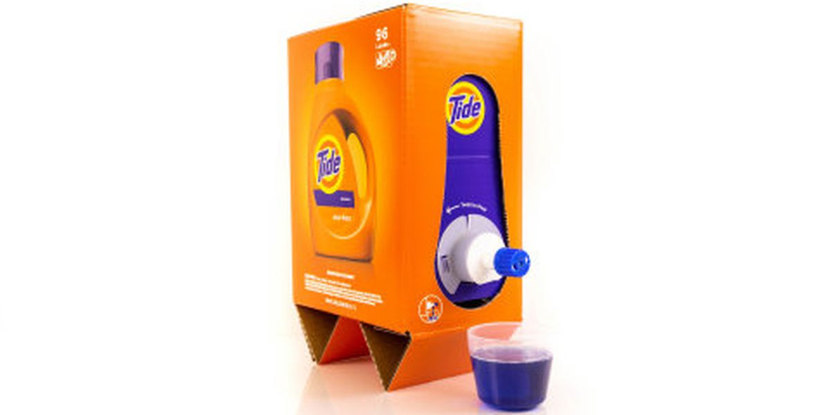 New Tide packaging looks a lot like boxed wine
