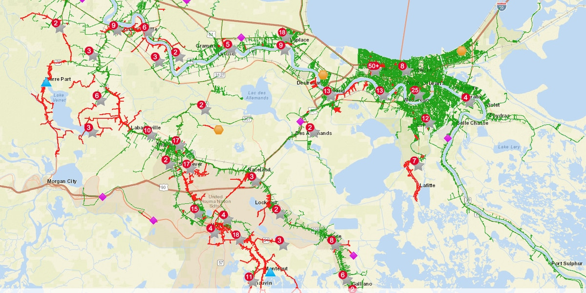 Entergy: Nearly 30,000 customers without power across Southeast Louisiana