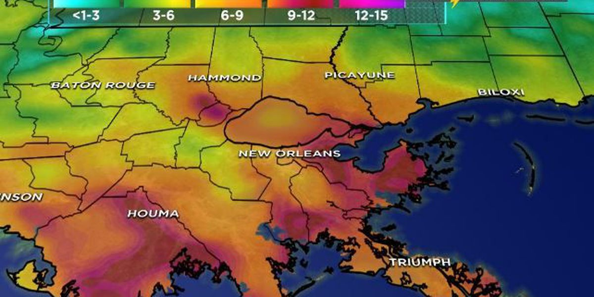 Tropical storm warning issued for southeast Louisiana coastline