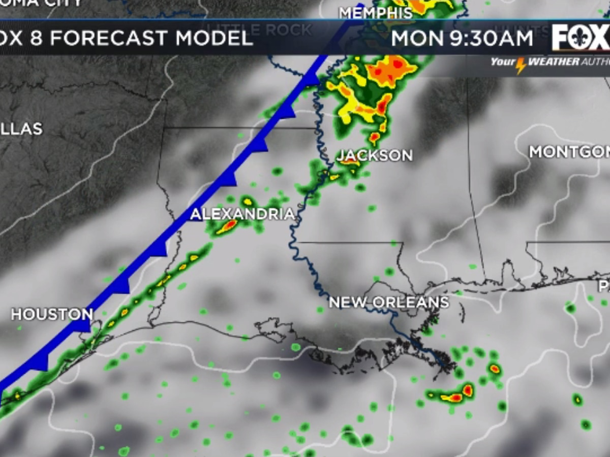 Nicondra: A strong front pushing in today