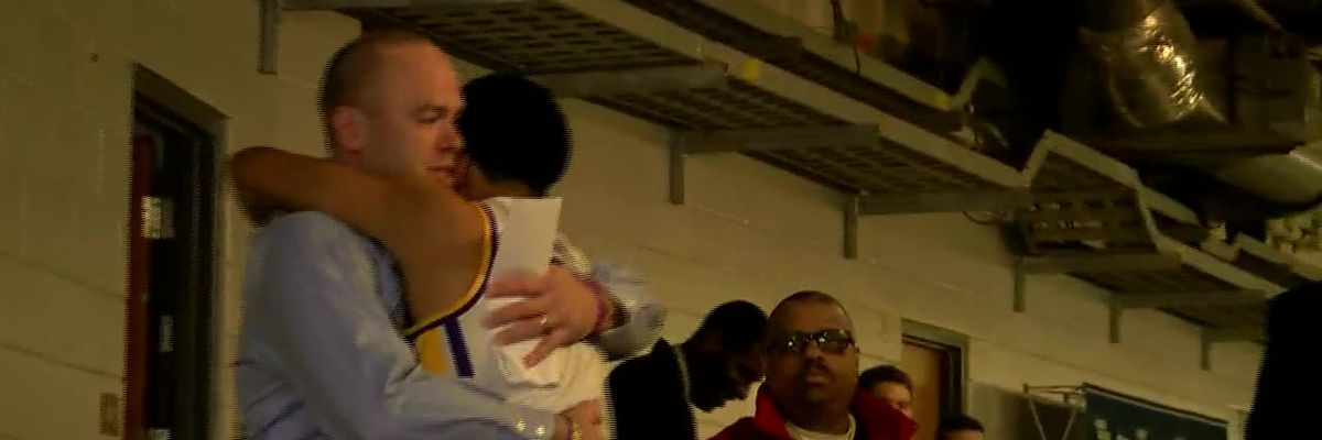 LSU leaves floor after win over Maryland in NCAA Tournament