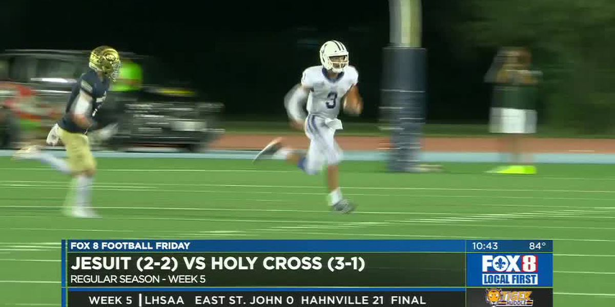 Jesuit wins nailbiter over Holy Cross, 20-14