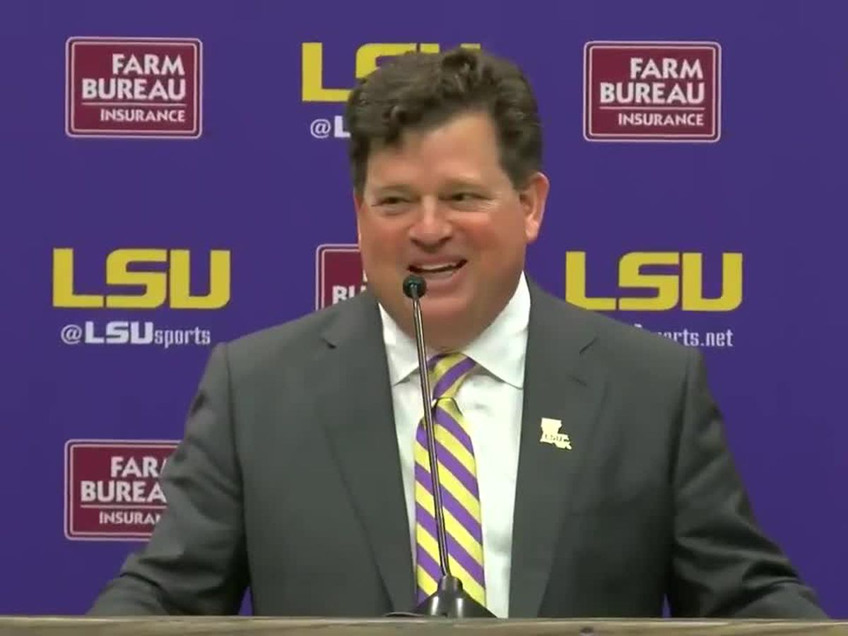 VIDEO: LSU introduces new athletic director Scott Woodward