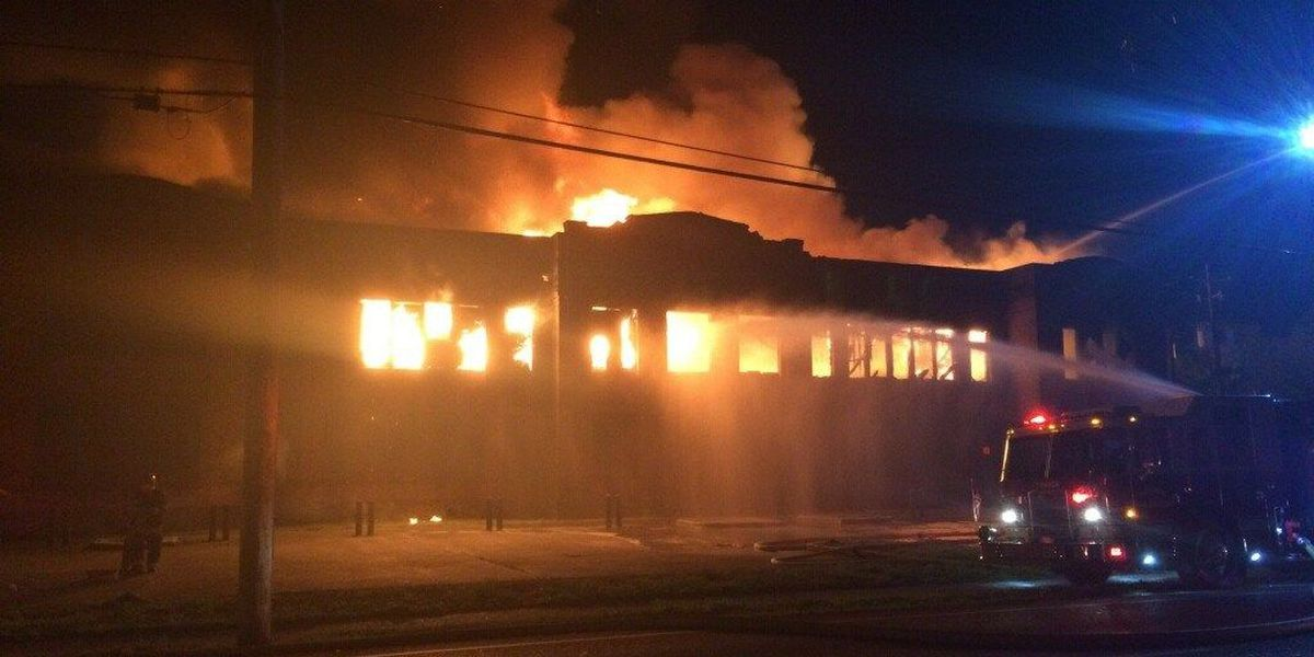 Fire damages historic old Kenner High School