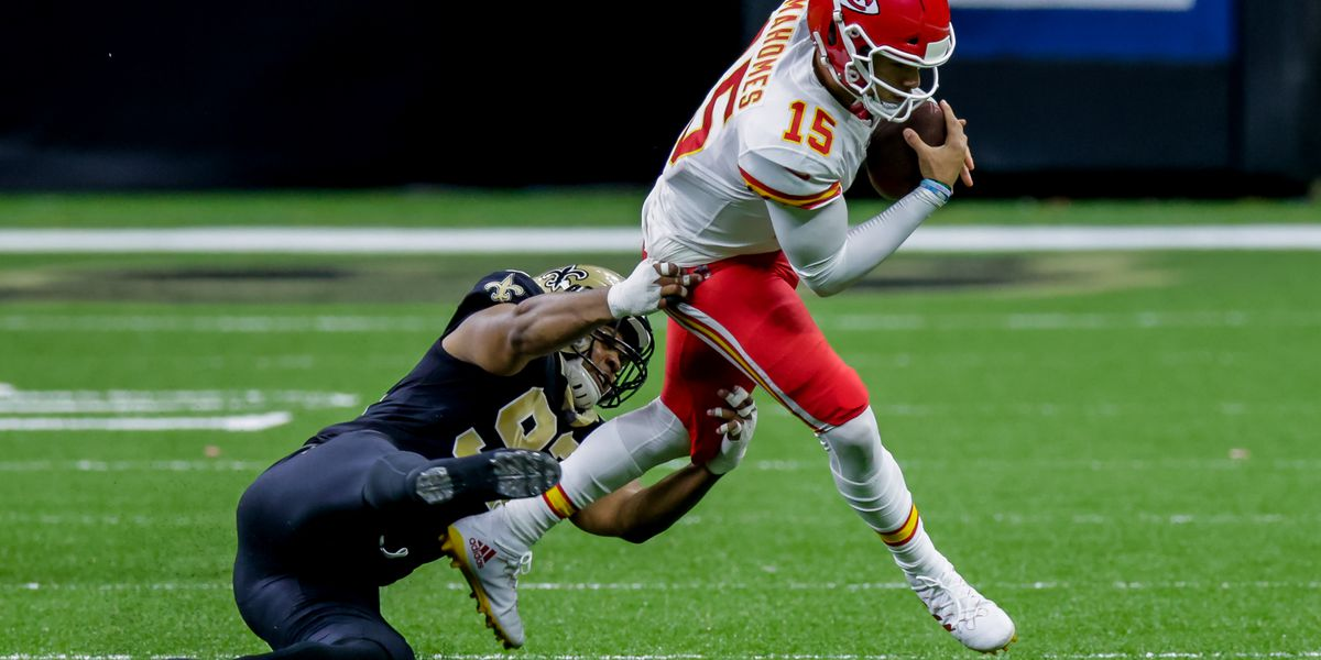 Mahomes made just enough clutch plays to stay ahead of the Saints