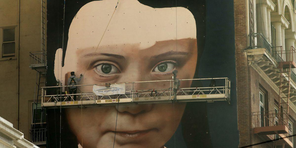 Mural of activist Greta Thunberg going up in San Francisco