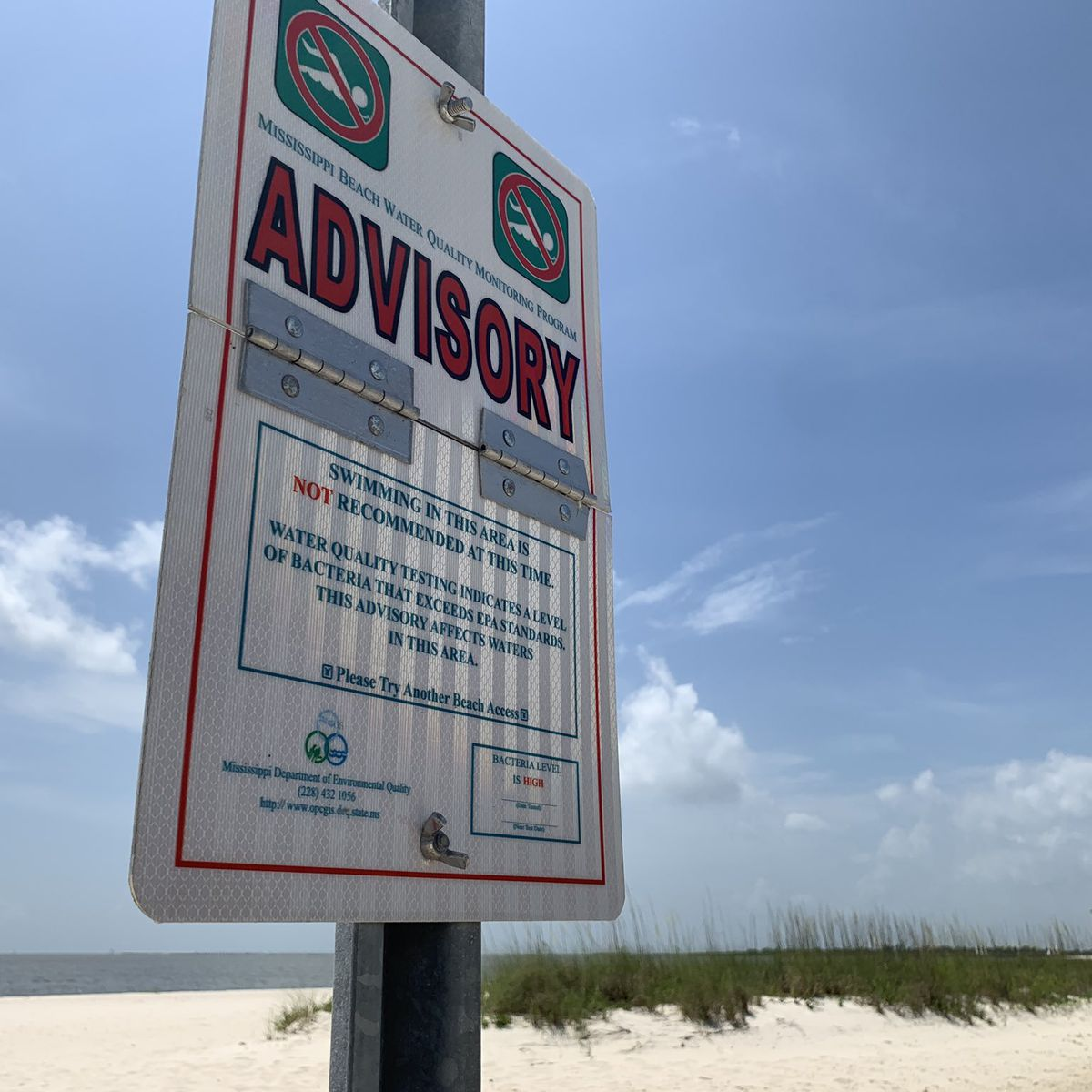 UPDATE: Algae bloom beach closings now extend into Harrison County